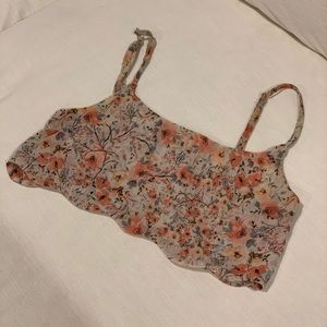 3/$25 Brandy Melville cropped floral tank